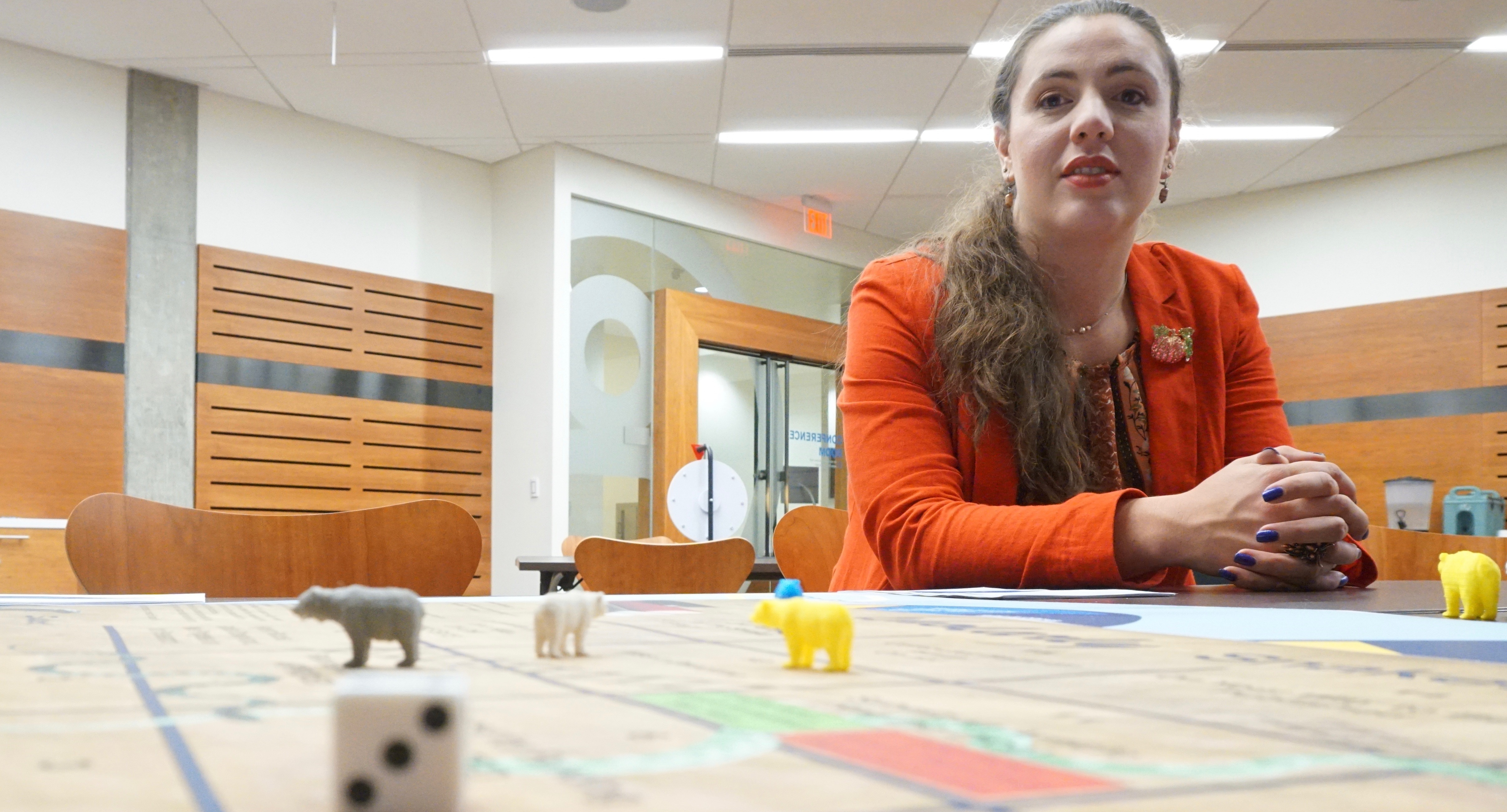image of student playing Peer Review Roulette