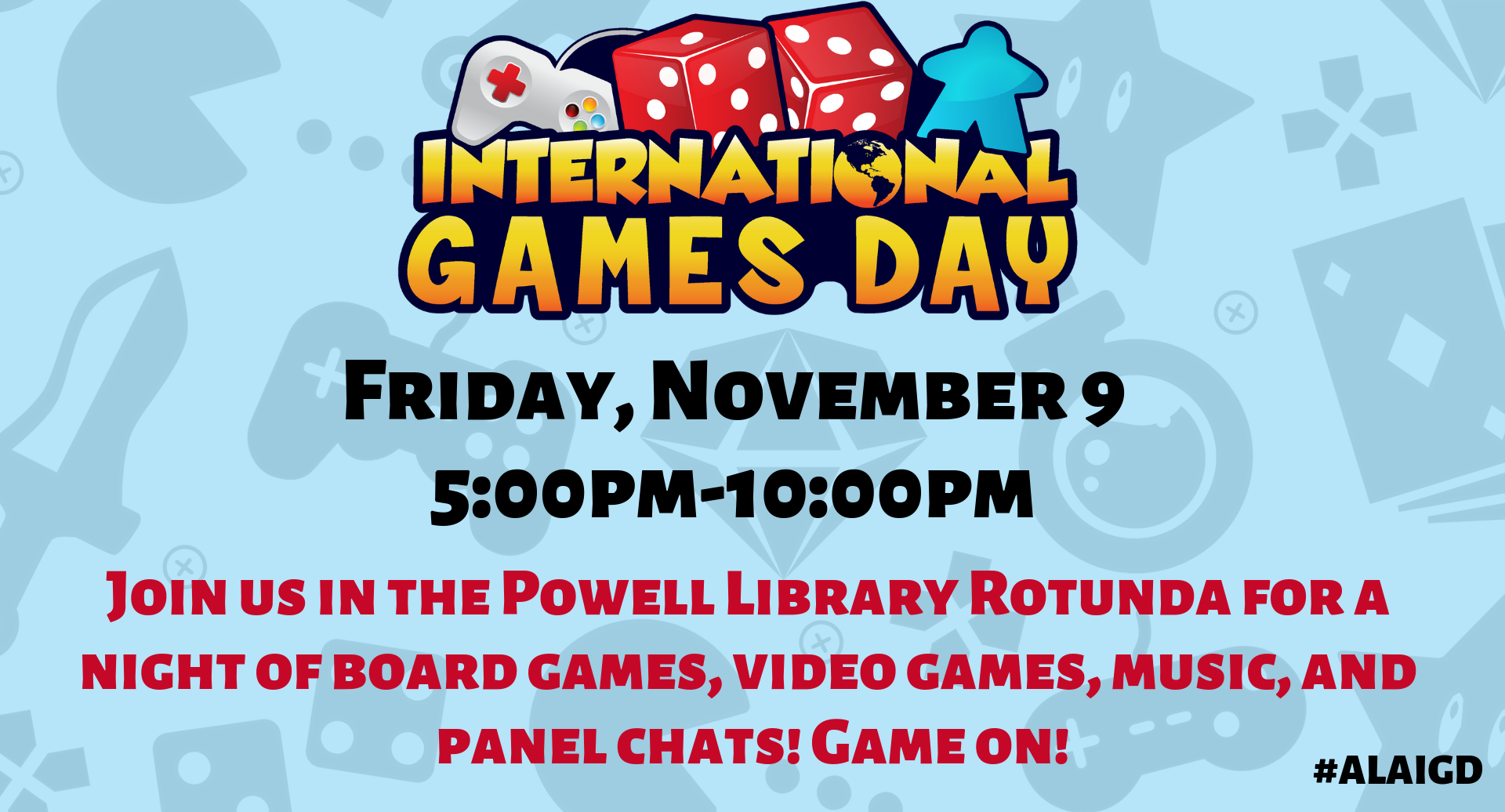 Marketing Flyer For International Games Day