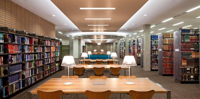 Charles E. Young Research Library Reading Room