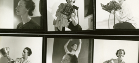 Barbara Morgan six images of her with camera and dancers