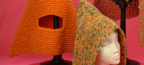 Yarn hats from the Bonnie Cashin collection of fashion, theater, and film costume design