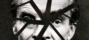 Thumbnail image of Huxley face in cracked mirrow