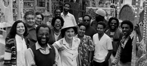 Artist John Outterbridge and the staff of the Watts Towers Arts Center
