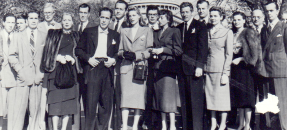 Wyler Hollywood Celebrities: Committee for the First Amendment attend House Un-American Activities Committee hearings in Washington, DC, 1947, William Wyler Papers