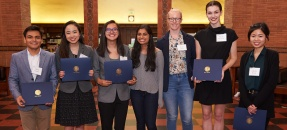 students at library prize ceremony