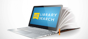 Laptop with UC Search logo on screen