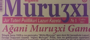 Front cover of a book with the title Agani murutsxi