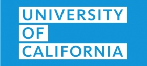 University of California text block on blue background