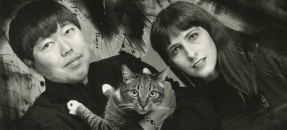 V. Vale and Andrea Juno with cat
