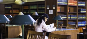 UCLA students studying in the Powell Main Reading Room. Photo courtesy of Elena Zhukova
