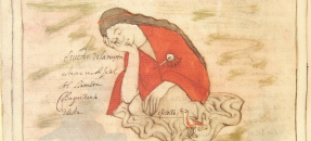 el sueno. hand painted image of sleeping woman and bird
