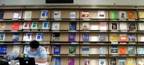 Current periodicals on display shelves in SEL/Geology