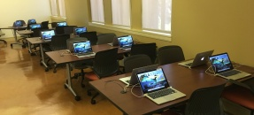 Image of tables and laptops