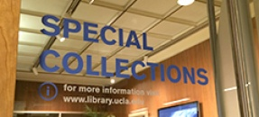 Entrance to Special Collections in the Young Research Library