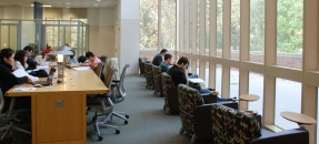 Interior of Rosenfeld Library