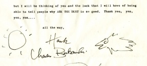 Letter from Charles Bukowski to John Fante, January 31, 1979.
