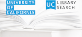 UC Library Search logo with book