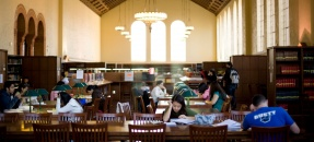 Powell Main Reading Room looking west.  Photo courtesy of Stephanie Diani