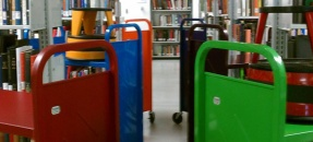 Book trucks in the Arts Library