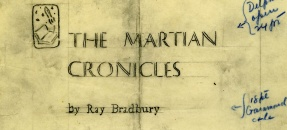 The Martian Chronicles cover proof from the Ray Bradbury papers (Collection 471)