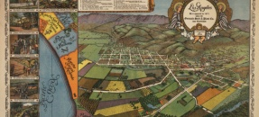 Los Angeles as it appeared in 1871, when the Germain Seed & Plant Co. was established