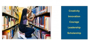 student shelving books cropped from announcement flyer