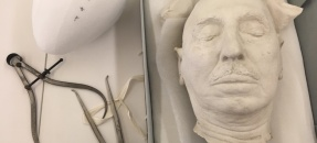 John Randolph Haynes Death Mask measured for new box