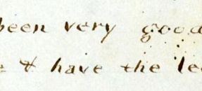 """Santa leeches letter highlight that says """"you have been very good to take medicine and have the leeches on"""