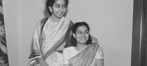 Nayantara Pandit and Chandraledha Pandit shopping in Los Angeles, Calif., 1943