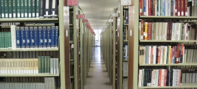 Book stacks in the Young Research Library