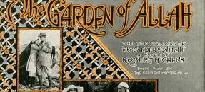 Sheet music cover for Garden of Allah, 1917