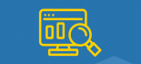 Icon of microscope hovering over computer screen