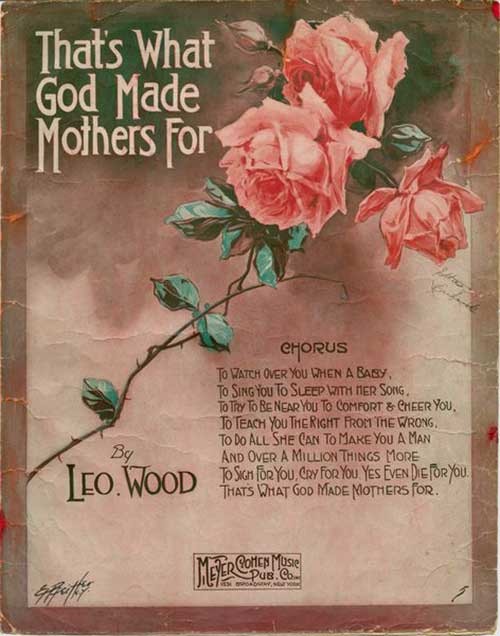 That's What God Made Mothers For cover of sheet music