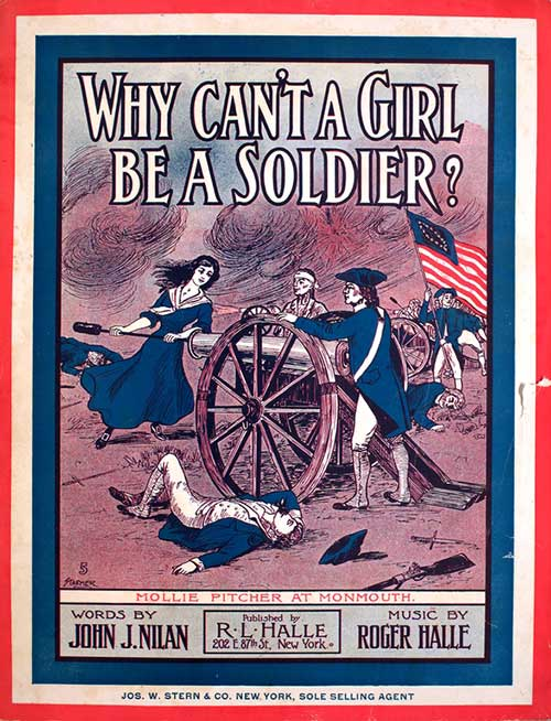 Why Can't A Soldier Be A Girl? cover of sheet music
